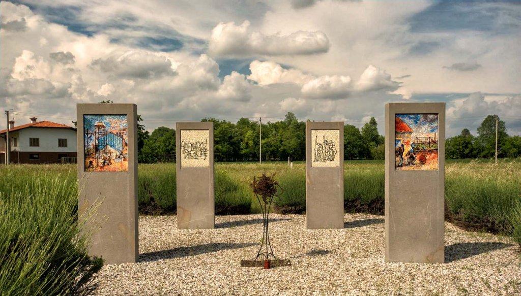 Gedenkstätte auf dem Areal des Konzentrationslagers