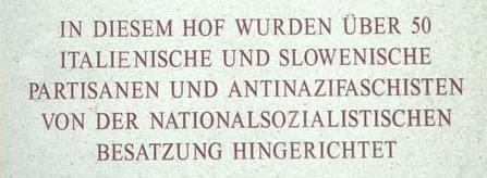 Deutscher Text der Gedenktafel am Burgtor
