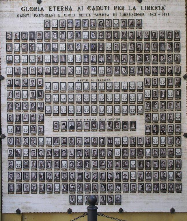 Gedenktafel für die Opfer der deutschen Besatzung