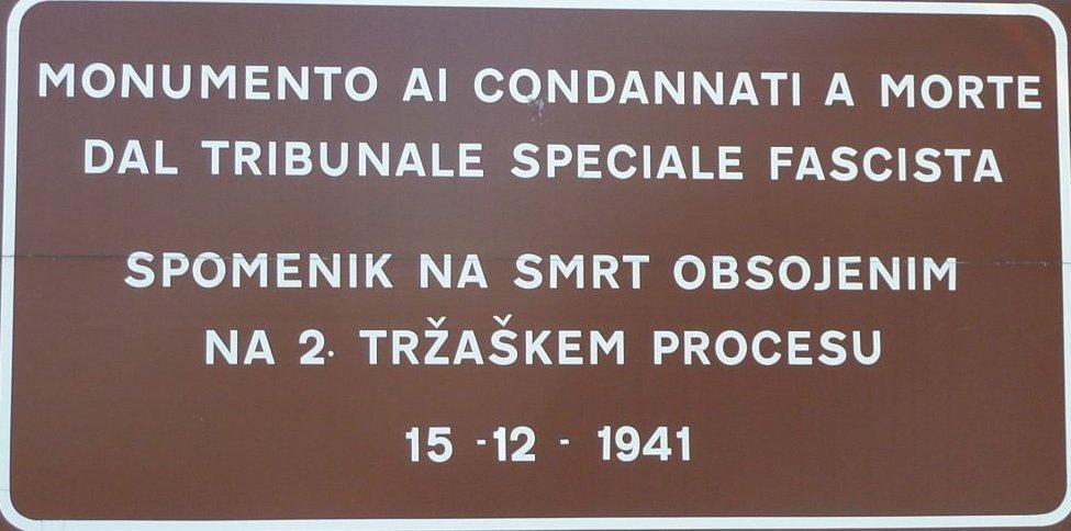 Hinweisschild am Poligono di Tiro