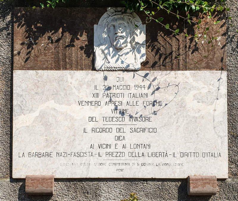Gedenkstätte an der Villa de Brandis