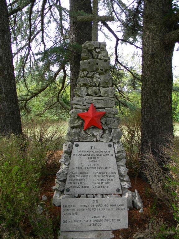 Gedenkstätte für die Opfer des 29. Mai 1944 (Foto: Fabio Vallon, ANPI VZPI Trieste)