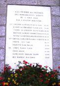Gedenktafel an Bombenopfer
