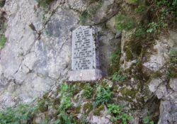 Gedenkstein für zwei Glières-Kämpfer