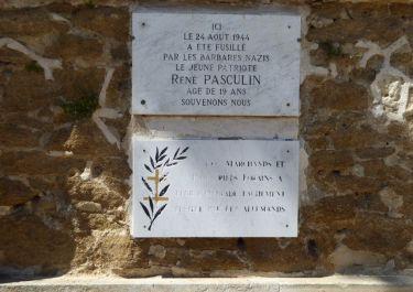 Gedenktafel René Pasculin