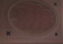 Gedenktafel in der Kirche