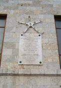 Gedenktafel am Palazzo (Foto: Baldini)