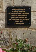 Gedenktafel für die durch Vichy rassistisch und antisemitisch Verfolgten