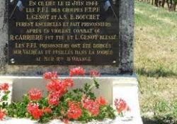 am Stadtrand gefangene Résistants; Quelle: http://12-juin-1944valreas.over-blog.com