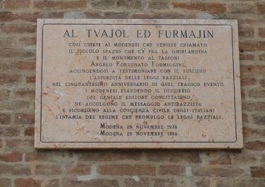 Gedenktafel für Angelo Fortunato Formiggini