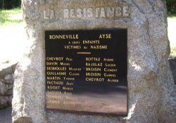 Résistance-Denkmal, Namenstafel