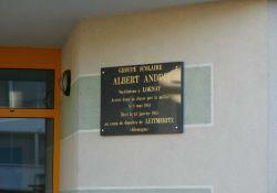 Gedenktafel Albert André; © M. Bernadet, Musée de Rumilly