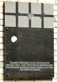 Gedenktafel für sowjetische Familien