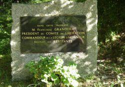 Tafel am Guts-Tor 'La Carrière'