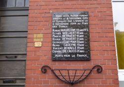 Gedenktafel acht erschossene Résistants