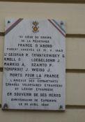 Gedenktafel an Verhaftung von Résistants