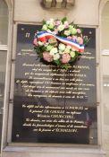 Gedenktafel am Place du 11 novembre 1943