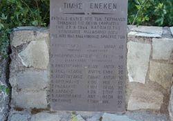 Exekutionsgedenkstätte - eine der Tafeln mit den Namen der Opfer