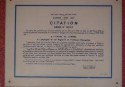 'Armeeorden' (1942) für die Senegalschützen