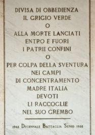 Gedenktafel für die in Konzentrationslagern Umgekommenen