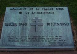Gedenkplatte Freies Frankreich und Résistance