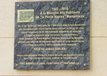 Gedenktafel an Sprengung und Evakuierung, Place de Lenche