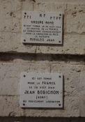 Gedenktafel in der Altstadt für während der Befreiung getötete Widerstandskämpfer