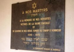 Tafel an Friedhofs-Synagoge