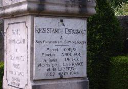 Gedenktafel an die drei spanischen Maquisards