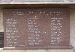 Namen der 57 getöteten Maquisards