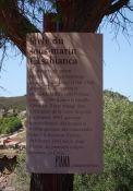 Hinweistafel der Gemeinde Piana