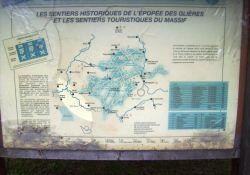 Partisanenwege auf das Glières-Plateau