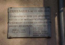 Tafel Répressailes 15 juin 1944