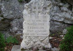 Stele Marcel Joux (Echallon)