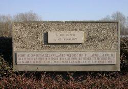 Denkmal an der Ain-Brücke Pont de Chazey in Villieu; © maquisdelain.org