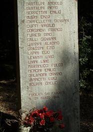 Tafel mit Namen der Opfer
