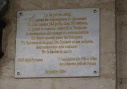 Tafel an den letzten Juden-Transport im Bhf. Toulouse-Matabiau