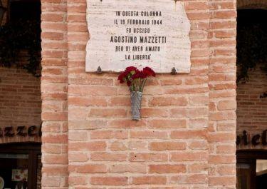 Gedenktafel für Agostino Mazzetti