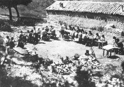 Maquisards de Morvan im Lager Lance (Foto von 1943); Quelle: Wikipedia