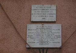 Gedenktafeln am Maison Chabre