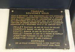 Gedenktafel am ehemaligen Gefängnis Pax