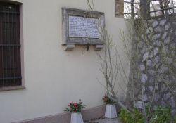 Gedenktafel in der Via della Miniera (Foto: Chiti)