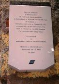 Gedenktafel jüdische Hilfs- und Widerstandsorganisationen