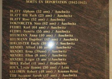 Gedenktafel Deportation jüdischer Menschen