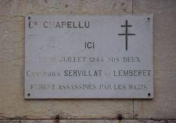 Tafel Servillat und Lemberet an der Präfektur-Mauer