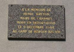 Gedenktafel für Bürgermeister Breton