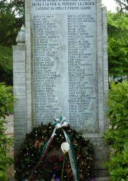 Gedenkstein am Park