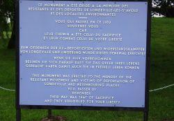 Informationstafel am Mémorial
