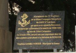 Tafel für 52 senegalesische Schützen