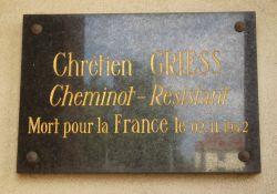 Gedenktafel Chrétien Griess